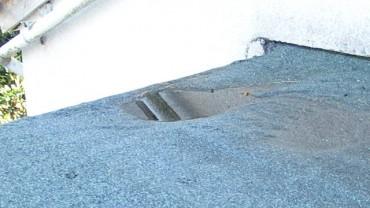Failure of flat roof